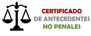 Imagen: Certificado de Antecedentes No Penales