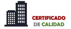 Imagen: Certificado de calidad
