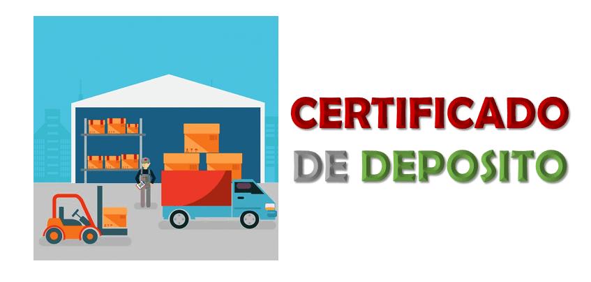 Imagen: Certificado de Depósito