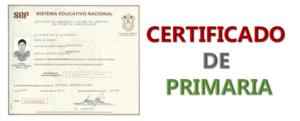 Imagen: Certificado de primaria