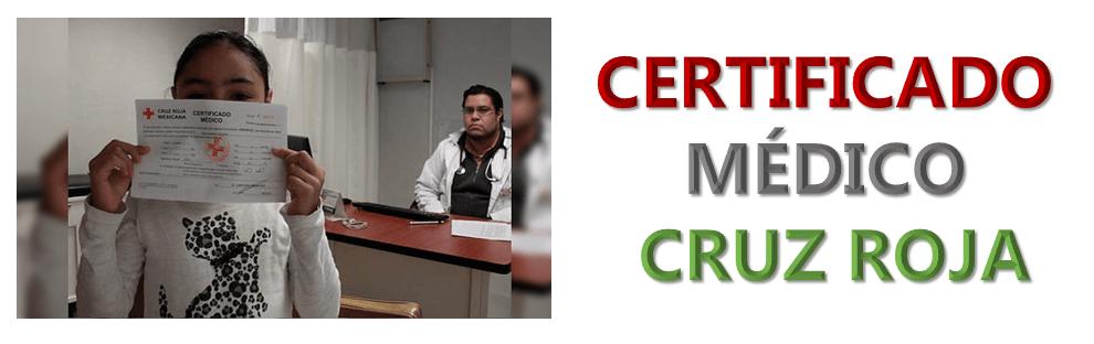 Imagen: Certificado médico cruz roja