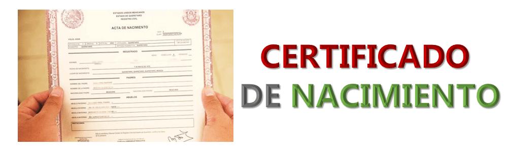 Imagen: Certificado de nacimiento