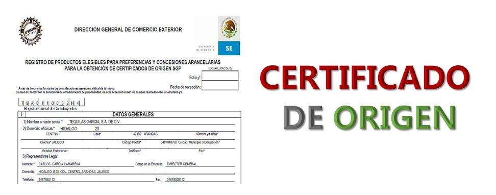 Imagen: Certificado de origen